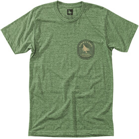 Hippy Tree Geology Camiseta Hombre, heather army